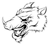 Boar mascot — Stock Vector