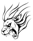 ライオン マスコット — ストックベクタ