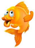 Goldfish cartoon — Stock Vector