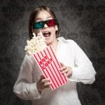 Little girl wearing 3D glasses — Stock Photo #19710863