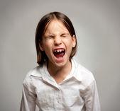 Little girl screaming — Stock Photo