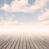 Muelle con cielo — Foto de Stock
