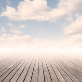 Pier with sky — Stock Photo