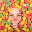 Stock Photo: Buried on jellybeans