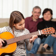 Little girl playing guitar — Stock Photo #24560001