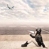Little aviator — Stock Photo
