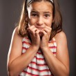 Little girl scared — Stock Photo #28263233