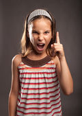 Little girl quarreling — Stock Photo