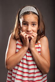 Little girl scared — Stock Photo