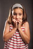Little girl scared — Stock Photo
