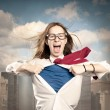 Woman like a superhero — Stock Photo #30201047