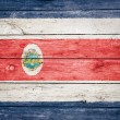 Stock Photo: Costricflag on wood