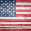 United states flag on wood — Stock Photo