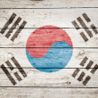 South korean flag on wood — Stock Photo #32479211