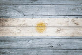 Argentinian flag on wood — Stock Photo