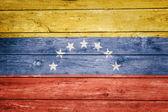 Venezuelan flag on wood — Stock Photo