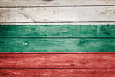 Bulgarian flag on wood — Stock Photo