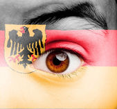 Girl with german flag painted — Stock Photo