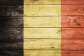 Flemish flag on wood — Foto Stock