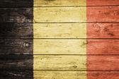 Bandeira flamenga na madeira — Foto Stock