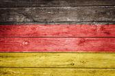 German flag on wood — Stock Photo