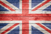 British flag on wood — Stock Photo