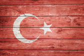 Turkish flag on wood — Stock Photo