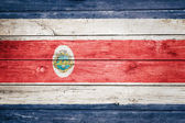 Costa rican flag on wood — Stock Photo