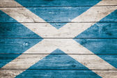 Scottish flag on wood — Stock Photo