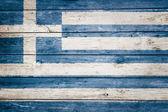 Greek flag on wood — Stock Photo