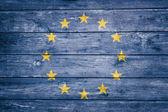 European flag on wood — Stock Photo