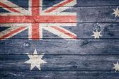 Australian flag on wood — Stock Photo
