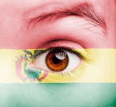 Girl with bolivian flag painted — Stock Photo