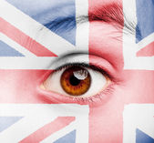 Girl with british flag painted — Stock Photo