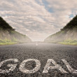 Goal painted on asphalt — Stock Photo #38330171