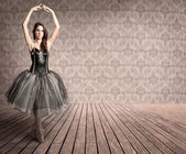 Ballerina on tiptoe — Stock Photo