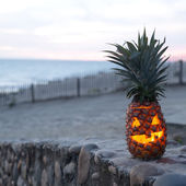 Halloween on beach — Stock Photo