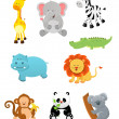 Safari Animals — Stock Vector