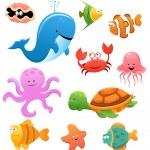 Sea Animals — Stock Vector #25384199