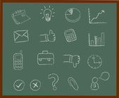 Chalkboard Icon Set — Stock Vector