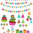 Birthday Set — Stock Vector #25555137