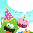 Monster's Birthday Message — Imagen vectorial