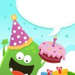 Monster's Birthday Message — Stock Vector