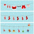 Christmas Banners — Stockvectorbeeld