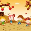 Autumn Kids — Stock Vector #32113297