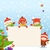 Kids' Christmas Message — Stock Vector