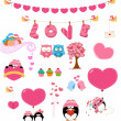Love Set — Stock Vector