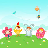 Kids' Easter Party — Stock Vector