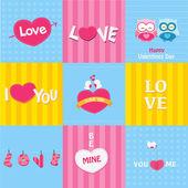 Retro miłość karty — Wektor stockowy