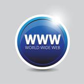 Www botão — Vetor de Stock